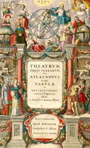 J. Blaeu, frontispice de l'Atlas, 1645