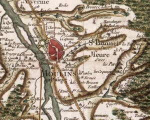 Carte de Cassini de Moulins, 1759