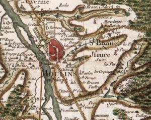 Carte de Cassini de Moulins, 1759