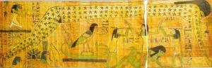 Papyrus funéraire (détail), musée des antiquités du Caire.