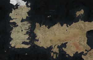 Carte du monde du Trône de Fer