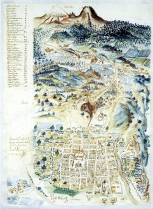 Village de San Andres Chalchicomula, Luis Priego, 1764