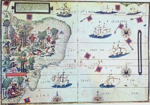 Brésil, Atlas Miller, 1519.