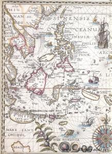 Les Indes, Petrus Plancius, 1594.